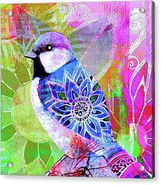 A New Little Digital Bird Acrylic Print