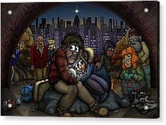A New York City Nativity Acrylic Print