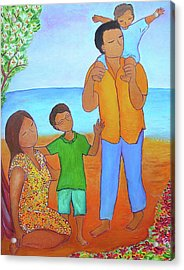 A Nice Family Of Four Acrylic Print by Gioia Albano