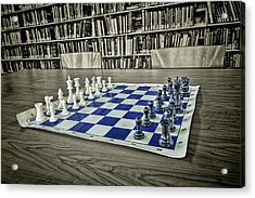 Acrylic Print featuring the photograph A Nice Game Of Chess by Lewis Mann