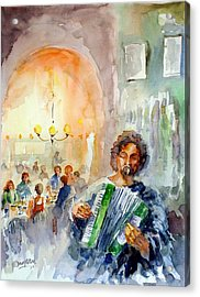 Acrylic Print featuring the painting A Night At The Tavern by Faruk Koksal