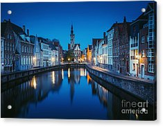 A Night In Brugge Acrylic Print by JR Photography