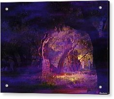 Acrylic Print featuring the photograph A Night Of Weeping In The Garden Gethsemane Israel 2008 by Anastasia Savage Ealy