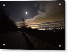 A Night On Skyline Drive Acrylic Print by Shannon Louder