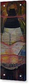 A Night On Tybe Beach Acrylic Print by Peggy  Blood