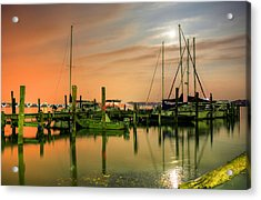A Night Out At The Marina Acrylic Print by JC Findley