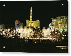 A Night View Of The Water And Light Acrylic Print by Heather Perry
