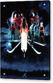 A Nightmare On Elm Street 3  Dream Warriors 1987 Acrylic Print by Caio Caldas