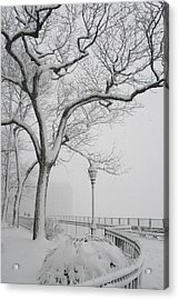 A Nor'easter In Brooklyn Acrylic Print by Christopher Kirby