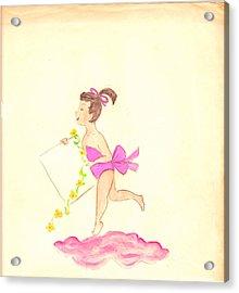 A Note From Heaven  Retro Acrylic Print by Rosalie Scanlon