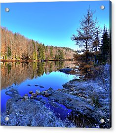 Acrylic Print featuring the photograph A November Morning On The Pond by David Patterson