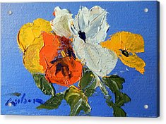 A Nudge Of Pansies Acrylic Print by Ron Wilson