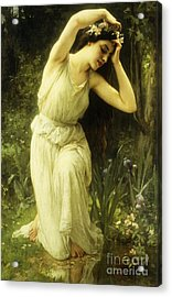 A Nymph In The Forest Acrylic Print by Charles Amable Lenoir