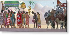 A Painting Of Aztec Ruler Moctezuma II Acrylic Print by Ned M. Seidler