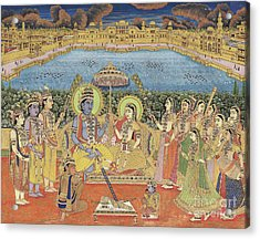 A Painting Of Rama And Sita, India, Jaipur, Circa 1800  Acrylic Print