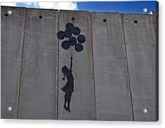 A Painting On The Israeli Separartion Acrylic Print by Keenpress