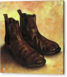 A Pair Of Chelsea Boots Acrylic Print by Richard Mountford