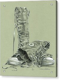 A Pair Of Fake Converse Boots Acrylic Print by Richard Mountford