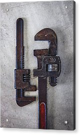 A Pair Of Rusty Wrenches Acrylic Print