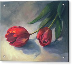 A Pair Of Tulips Acrylic Print