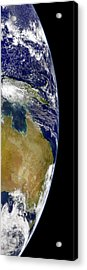 A Partial View Of Earth Showing Acrylic Print by Stocktrek Images
