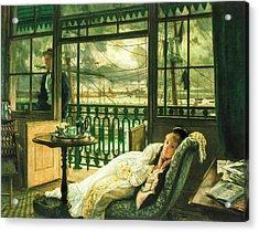 A Passing Storm 1876  Acrylic Print by Jacques Joseph Tissot