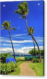Acrylic Print featuring the photograph A Path In Kaanapali by James Eddy