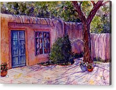 A Patio In Santa Fe Acrylic Print