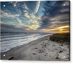 Acrylic Print featuring the photograph A Peaceful Beach Sunset by Charles McKelroy
