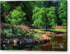 A Peaceful Feeling At The Azalea Pond Acrylic Print
