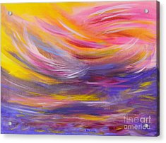 A Peaceful Heart - Abstract Painting Acrylic Print