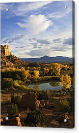 A Peaceful Landscape Stretches Acrylic Print by Ralph Lee Hopkins