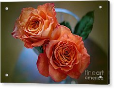 Acrylic Print featuring the photograph A Peach Delight by Diana Mary Sharpton