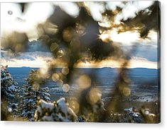 A Peek At Taos Mesa Acrylic Print