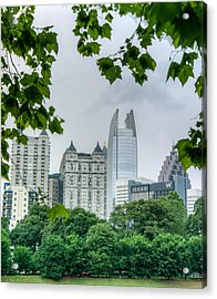 A Peek At The Atlanta Skyline Acrylic Print