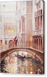Acrylic Print featuring the painting A Perfect Afternoon In Venice by Steve Henderson