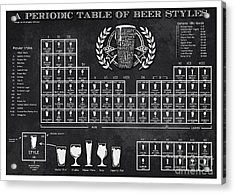 A Periodic Table Of Beer Styles Acrylic Print