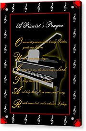 A Pianists Prayer_1 Acrylic Print by Joe Greenidge