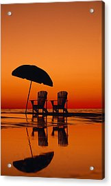 A Picturesque Scene With Two Chairs Acrylic Print by Michael Melford