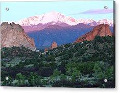 A Pikes Peak Sunrise Acrylic Print by Eric Glaser