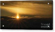 A Pillar Of Golden Light Acrylic Print by Brad Allen Fine Art