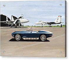 A Pilots Dream Acrylic Print by Richard Herron