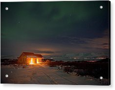 Acrylic Print featuring the photograph A Place For The Night, South Of Iceland by Dubi Roman