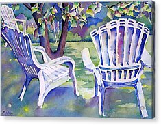 A Place In The Shade Acrylic Print by Barbara Jung