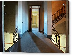 Acrylic Print featuring the photograph A Play Of Light On Ythe Stairway by Dirk Ercken