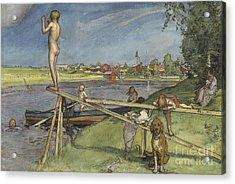 A Pleasant Bathing Place Acrylic Print