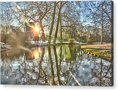 A Pond In Rotterdam Acrylic Print