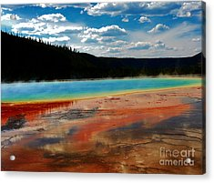 Acrylic Print featuring the photograph A Pool Of Color by Robert Pearson