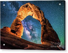 A Portal To The Milky Way At Delicate Arch Acrylic Print