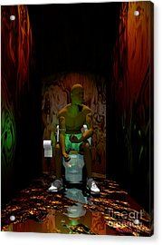 A Portrait Of Addiction Acrylic Print by Walter Neal